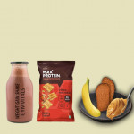 Gymvitals Weight Gain Shake + 10g Protein Chips + 2 Brown bread with Peanut Butter Spread + 1 Banana