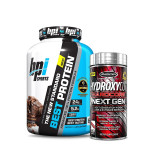 BPI Sports Best Whey Protein 5Lbs with MuscleTech Hydroxycut nextGen Fat Burner