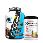 BPI Sports Best Whey Protein 5Lbs with Scivation Xtend BCAA 30 Servings