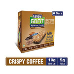 CaliBar GoFit Bar Low Sugar Crispy Coffee - Box of 12 Bars - 480g