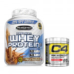 MuscleTech Premium 100% Whey Protein 5 Lbs with Cellucor C4 60 Servings