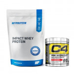 Myprotein Impact Whey Protein 2.5Kg with Cellucor C4 60 Servings