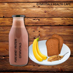 Gymvitals Pure Whey Protein Shake + 2 Toasted Brown Bread with Peanut Butter Spread + 2 Banana
