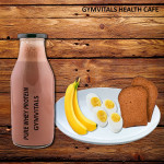 Gymvitals Pure Whey Protein Shake + 2 Toasted Brown bread with peanut Butter Spread + 2 Banana + 2 boiled Eggs