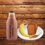Gymvitals Pure Whey Protein Shake + 2 Toasted Brown Bread with Peanut Butter Spread + 1  Banana