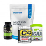 Myprotein Impact Whey Protein with ON Creatine and MP BCAA plus Cellucor C4 60 Stack
