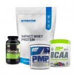 Myprotein Impact Whey Protein with ON Creatine and MP BCAA plus GAT PMP Stack