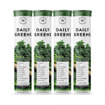 Wellbeing Nutrition Daily Greens with Organic Plant Superfood, Wholefood Multivitamin (15 Tablets) (Pack of 4)