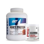 GAT Sport Whey Protein 5Lbs with GNC Creatine Monohydrate 83 Servings
