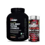 GNC AMP Gold 100% Whey 2Kg with MuscleTech Hydroxycut NextGen Fat Burner