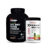 GNC AMP Gold 100% Whey 2Kg with Scivation Xtend BCAA 30 Servings