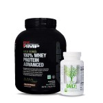 GNC AMP Gold 100% Whey 2Kg with Universal Nutrition Daily Formula Multivitamin