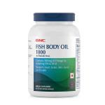 GNC Fish Body Oil Cap 1000 mg - Omega-3 Supplement (90 Softgel Capsules)