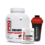 GNC Pro Performance Weight Gainer 3Kg with GNC Creatine Monohydrate 83 servings