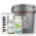 Isopure, Dutch Chocolate, Low Carb, 7.5Lbs + Xtend BCAA + Myprotein Fish Oil + Universal Nutrition Daily Formula