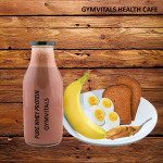 Gymvitals Pure Whey Protein Shake + 2 brown Bread  with Peanut butter Spread + 1 Banana + 2 Boiled Eggs