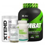MusclePharm Combat Whey 5 Lbs + Xtend BCAA + Myprotein Fish Oil + Universal Nutrition Daily Formula
