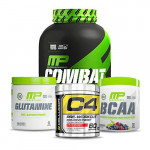 MusclePharm Combat 100% Whey with MP Glutamine and MP BCAA plus Cellucor C4 60 Stack