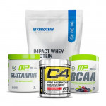 Myprotein Impact Whey Protein 2.5 Kg with MP Glutamine and MP BCAA plus Cellucor C4 60 Stack