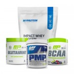 Myprotein Impact Whey Protein with MP Glutamine and MP BCAA plus GAT PMP Stack