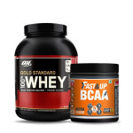 ON Gold Standard 100% Whey 5Lbs with Fast& Up BCAA 30 Servings