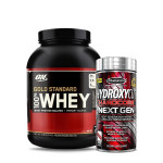 ON Gold Standard 100% Whey 5Lbs with MuscleTech Hydroxycut nextGen Fat Burner