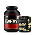 ON Gold Standard 100% Whey 5Lbs with Kevin Levrone BCAA Defender