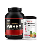 ON Gold Standard 100% Whey 5Lbs with Scivation Xtend BCAA 30 Servings