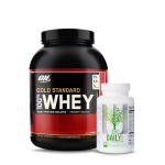ON Gold Standard 100% Whey 5Lbs with Universal Nutrition Daily Formula Multivitamin