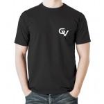 Gymvitals Unisex Polyester Round Neck Half Sleeve T-shirt-Black - 44