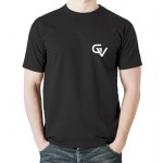 Gymvitals Unisex Polyester Round Neck Half Sleeve T-shirt-Black - 42